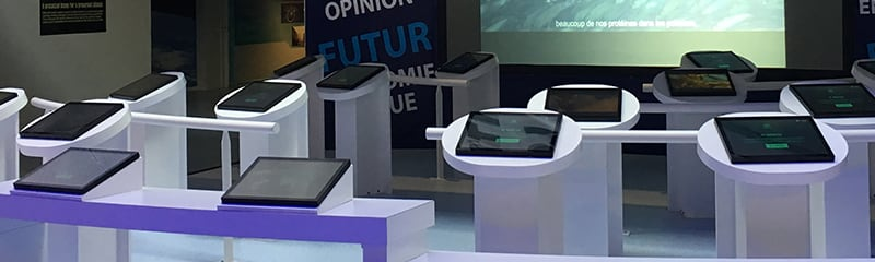 Interactive billboard & quiz kiosks