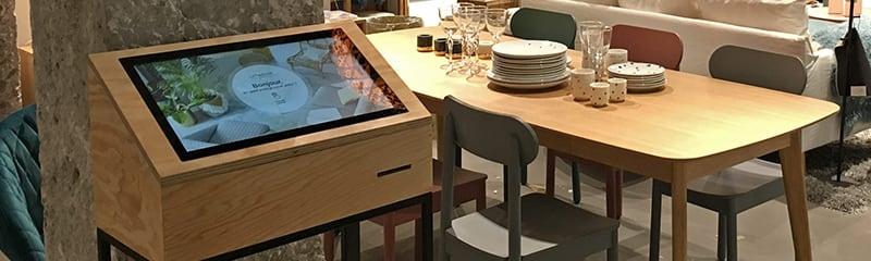 Wood touchscreen table & kiosks